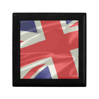Silk Union Jack Flag Closeup Gift Box