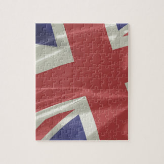 Silk Union Jack Flag Closeup Jigsaw Puzzle