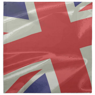 Silk Union Jack Flag Closeup Napkin