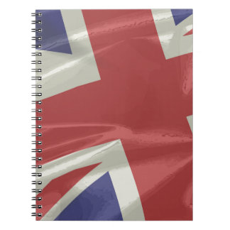 Silk Union Jack Flag Closeup Notebook