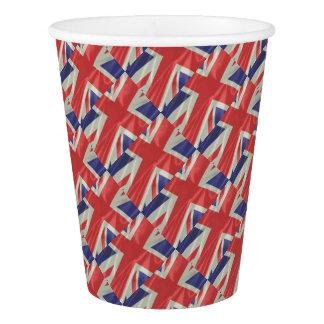 Silk Union Jack Flag Closeup Paper Cup