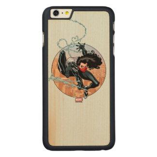 Silk Webslinging Carved Maple iPhone 6 Plus Case