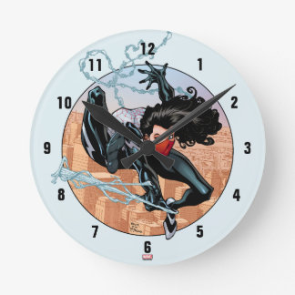 Silk Webslinging Round Clock