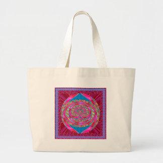 Silken Ribbon Jewelled Emblem Elegant Wedding Gift Tote Bag