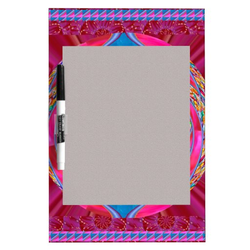 Silken Ribbon Jewelled Emblem Elegant Wedding Gift Dry Erase Board