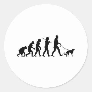 Silken Windhound Round Sticker