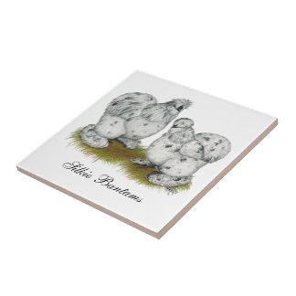 Silkie Bantam Splash Chickens Tiles