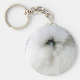 Silkie Chicken Keychain