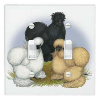 Silkie Trio Light Switch Cover