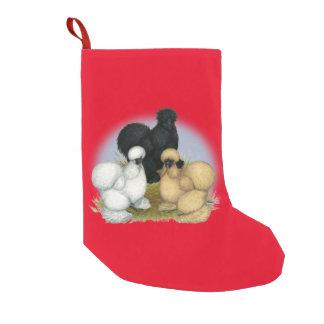 Silkie Trio Small Christmas Stocking