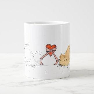 Silkie With Heart Large Coffee Mug