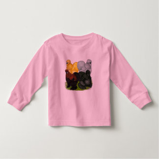 Silkies:  Assorted Roosters Toddler T-shirt
