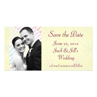 Silktones Cream Save the Date Personalized Photo Card