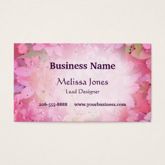 Silky Azaleas Business Card