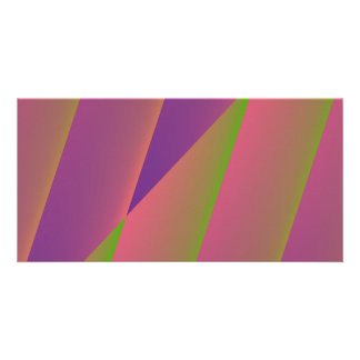Silky - Girly Abstract in Pink, Purple, and Green Photo Cards
