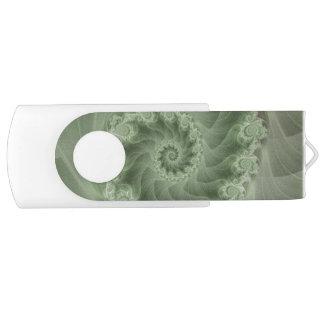 Silky Green Spiral Fractal Swivel USB Flash Swivel USB 3.0 Flash Drive