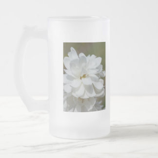 Silky Magnolia Frosted Glass Beer Mug