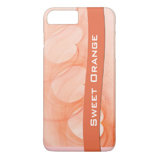 Silky Orange Heart Abstract Line iPhone 8 Plus/7 Plus Case