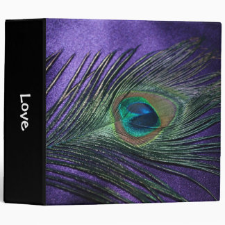 Silky Purple Peacock Feather Binder