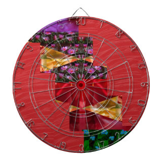 SILKY red fabric Flowers n Graphics ART - LOWPRICE Dartboard With Darts