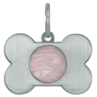 Silky Snow WInter Background Pet Tag