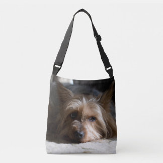 Silky Terrier allover print cross body bag  tote