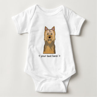 Silky Terrier Cartoon Personalized Baby Bodysuit