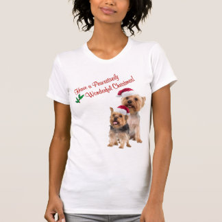Silky Terrier Christmas Nightshirt T-Shirt