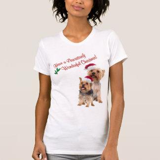 Silky Terrier Christmas Nightshirt T-Shirt