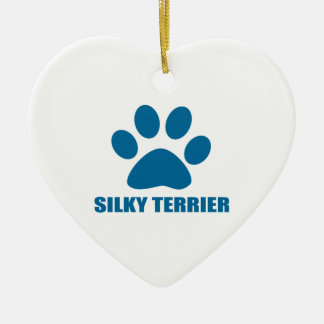 SILKY TERRIER DOG DESIGNS CERAMIC ORNAMENT