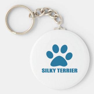 SILKY TERRIER DOG DESIGNS KEYCHAIN