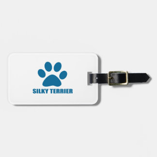 SILKY TERRIER DOG DESIGNS LUGGAGE TAG