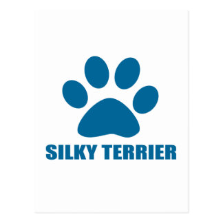 SILKY TERRIER DOG DESIGNS POSTCARD