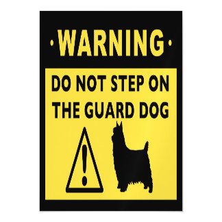 Silky Terrier Funny Guard Dog Warning Magnetic Card