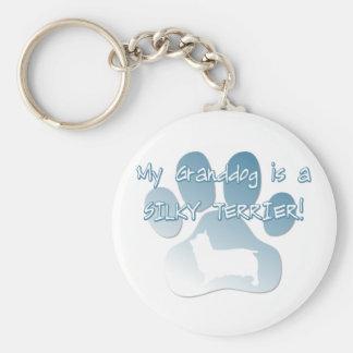 Silky Terrier Granddog Keychain
