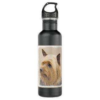 Silky Terrier Painting - Cute Original Dog Art 710 Ml Water Bottle