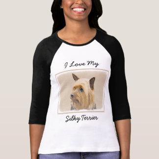Silky Terrier Painting - Cute Original Dog Art T-Shirt