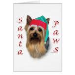 Silky Terrier Santa Paws Cards