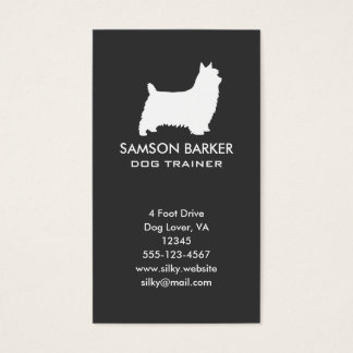 Silky Terrier Silhouette Business Card