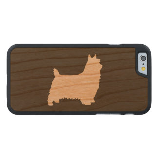 Silky Terrier Silhouette Carved® Cherry iPhone 6 Slim Case