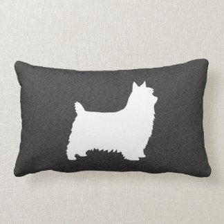 Silky Terrier Silhouette Lumbar Pillow