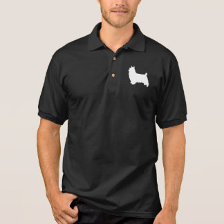 Silky Terrier Silhouette Polo Shirt