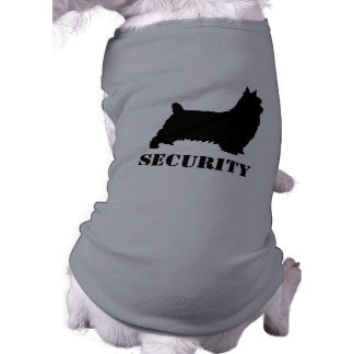 Silky Terrier Silhouette Security Shirt