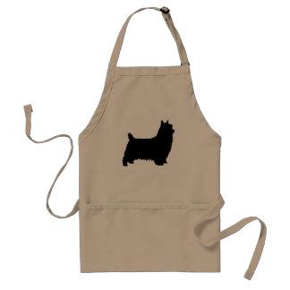 Silky Terrier Silhouette Standard Apron