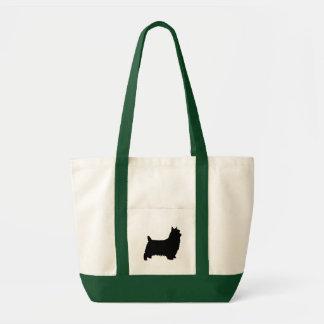 Silky Terrier Silhouette Tote Bag