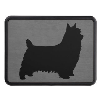 Silky Terrier Silhouette Trailer Hitch Cover