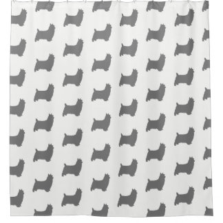 Silky Terrier Silhouettes Pattern
