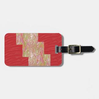 SILKY Waves n Elegant Red Fabric Print - LOW PRICE Luggage Tag