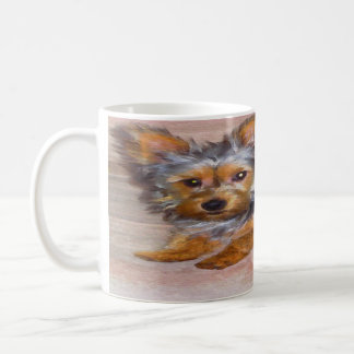 Silky / Yorkshire (yorkie) terrier watercolor mug