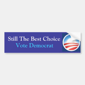 Sill the Best Choice: Obama: Blue Bumper Sticker